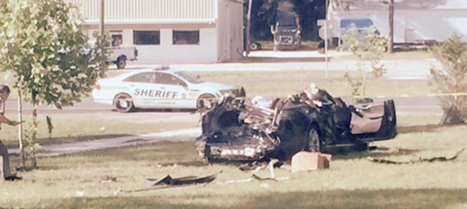 Una de las imágenes que han trascendido del accidente del Model S que...