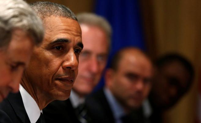 El presidente de Estados Unidos, Barack Obama, en la cumbre de la OTAN...