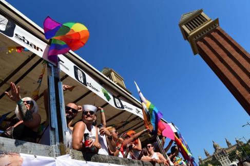 Rúa de la Pride Barcelona, esta tarde