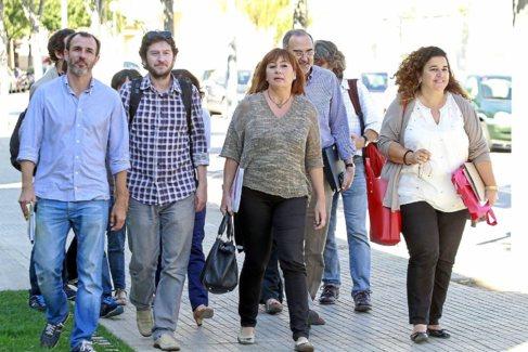 Biel Barceló, Alberto Jarabo, Francina Armengol, Antoni Diéguez y...