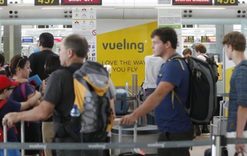 Mostradores de Vueling de Aeropuerto de Barcelona.