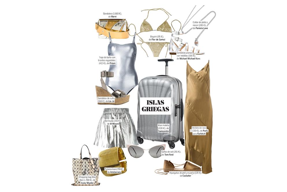 Maxi maleta (430 euros), de Samsonite. Vestido de raso (1.030 euros),...