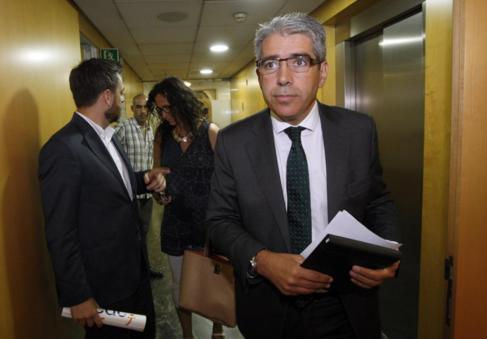 Francesc Homs durante la pasada campaña electoral