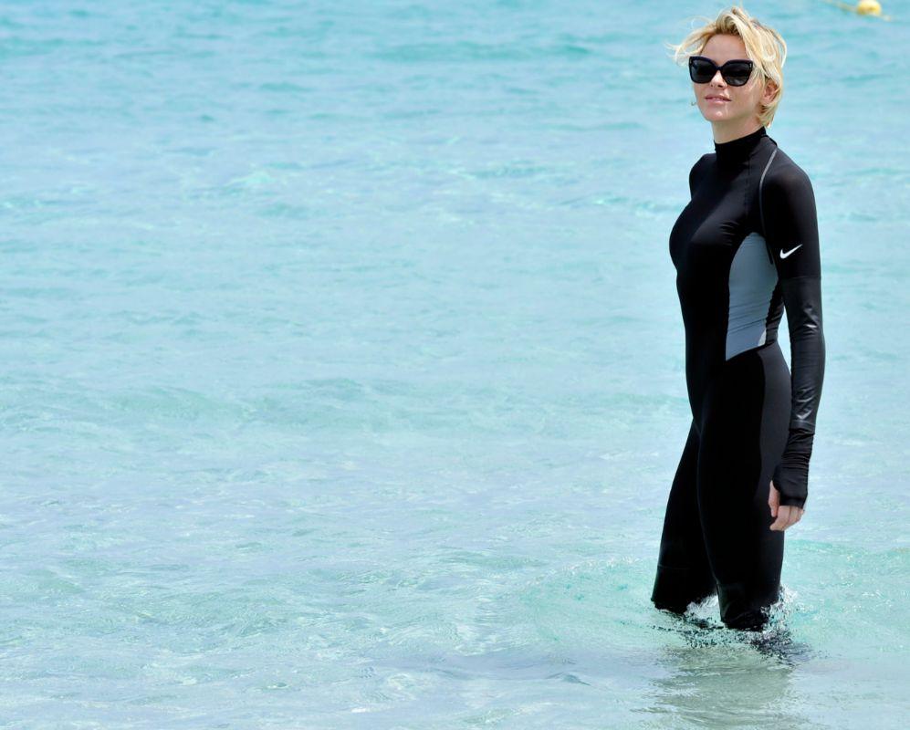Charlène de Mónaco. Ningún 'royal' más acostumbrado al agua que la...