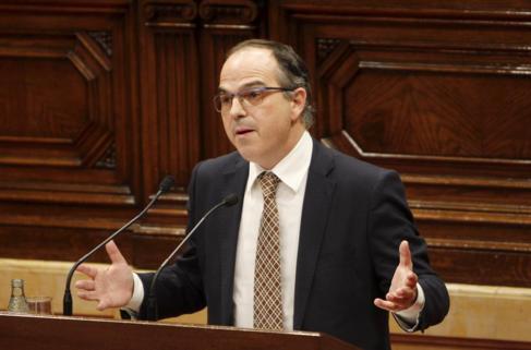 Jordi Turull durante una intervención en el Parlament.