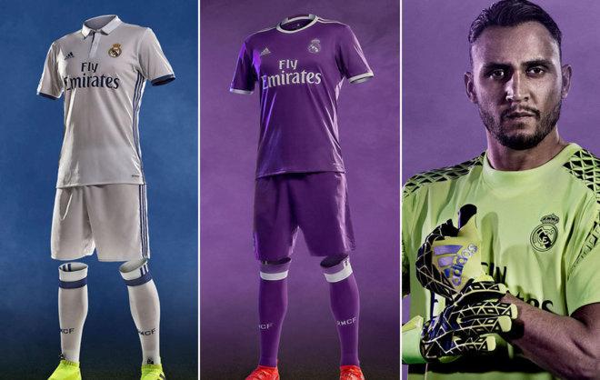 Primera y segunda equipación del Real Madrid para la temporada 2016 17.  RealMadrid c5c130baf3816
