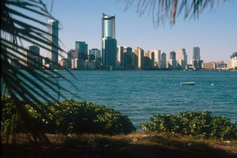 Reconstrucción virtual en el 'skyline' de Miami del...