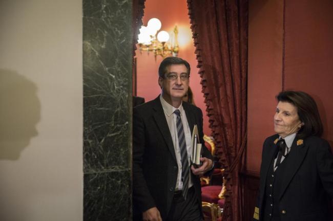 Ignacio Prendes, diputado de Ciudadanos, antes de una reunión de la...