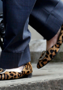 Bailarinas de Roger Vivier de leopardo.