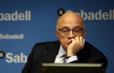 Josep Oliu, presidente del Banco Sabadell, en una imagen del pasado...