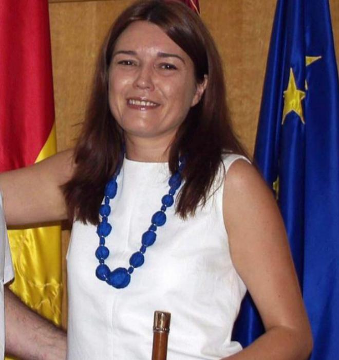 Yolanda Picazo, cuando era alcaldesa de Las Pedroñeras (Cuenca).