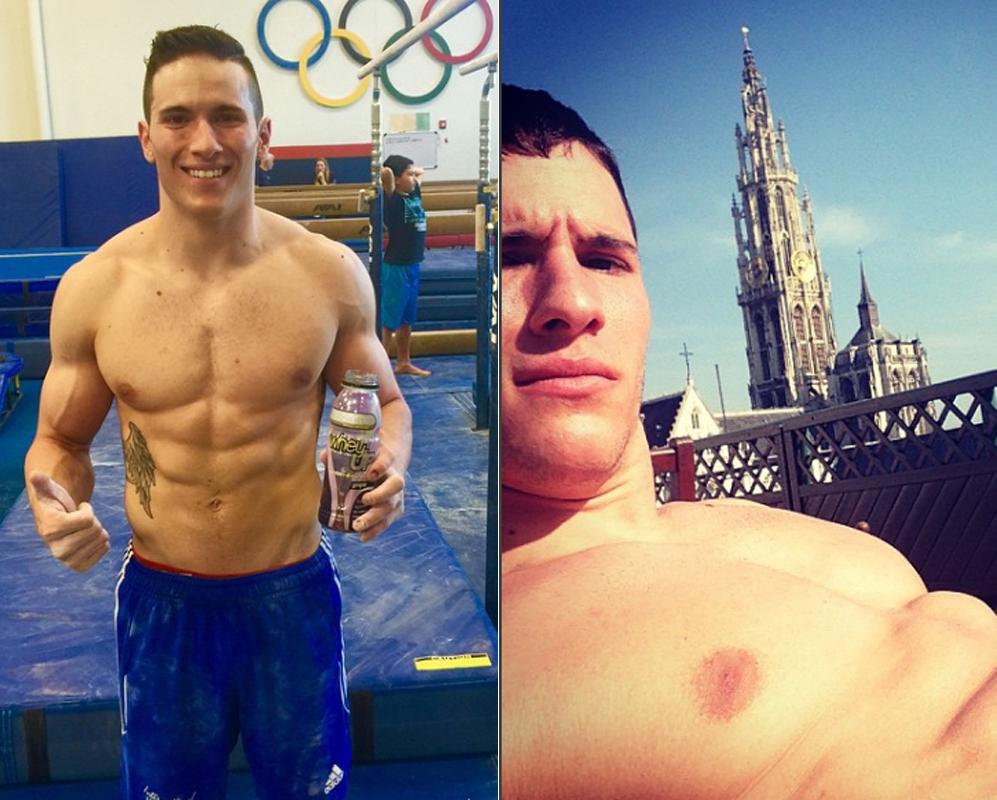 Alex Naddour. Sabemos que es gimnasta olímpico, pero eso no quita...