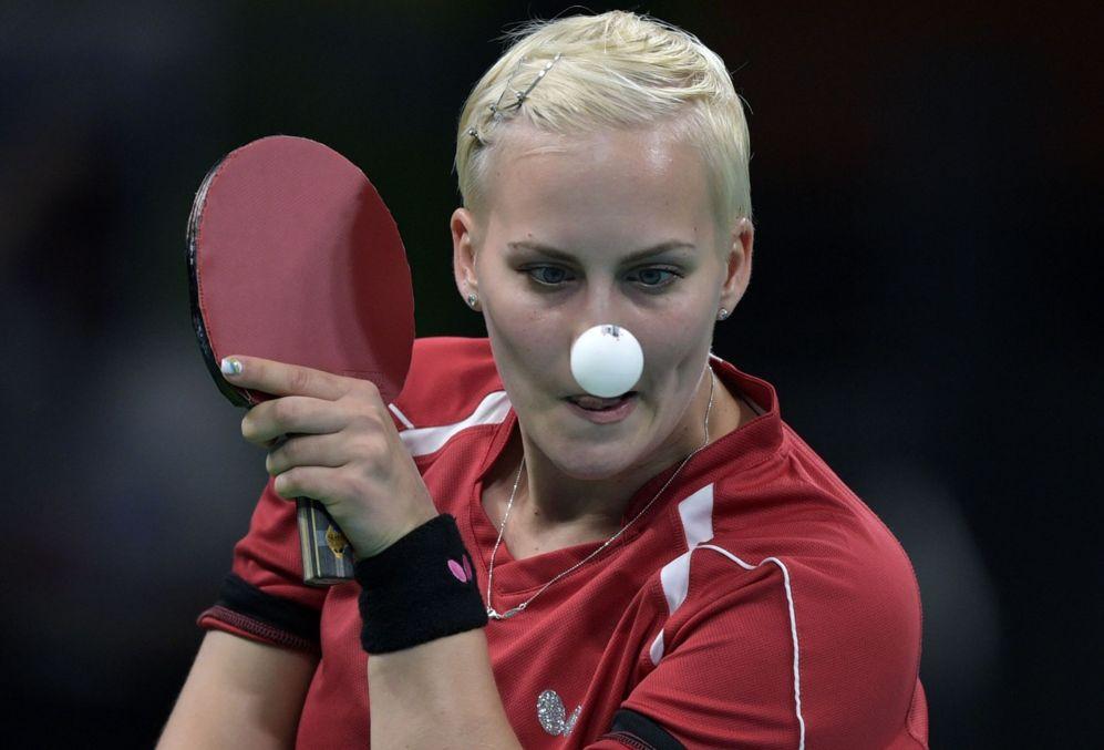 La eslovaca Barbora Balazova durante la fase de calificación de tenis...