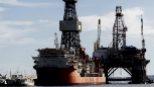 Imagen de una plataforma petrolifera en Canarias.