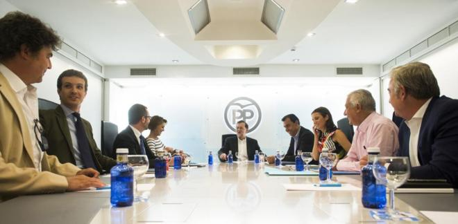 Mariano Rajoy, este miércoles durante la reunión del Comité de...