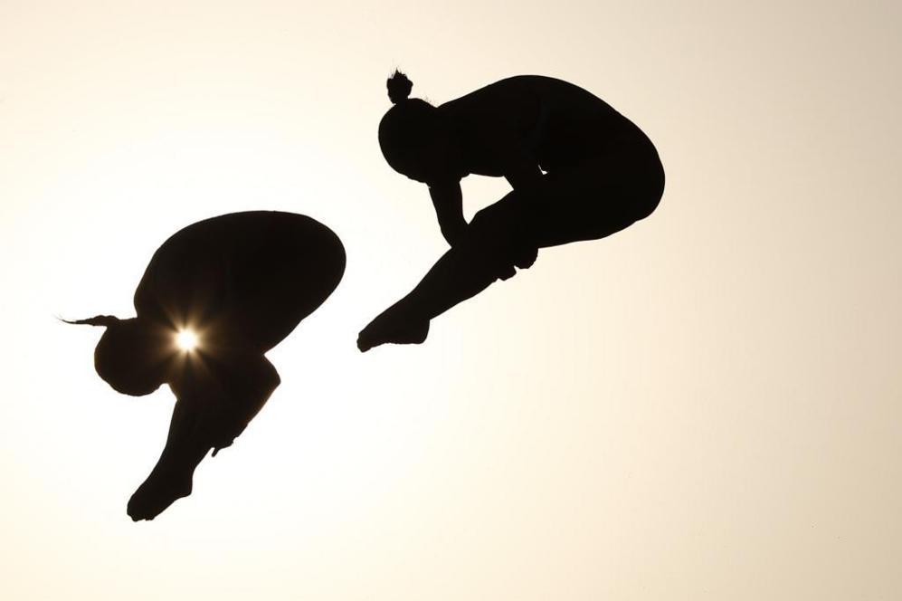 Meaghan Benfeito y Roseline Filion, dúo canadiense de salto en...