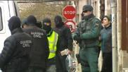 Nagore López de Luzuriaga, en el momento en que fue detenida por la...