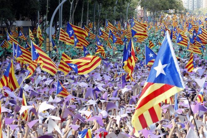 Manifestación de la Diada del año pasado en Barcelona.