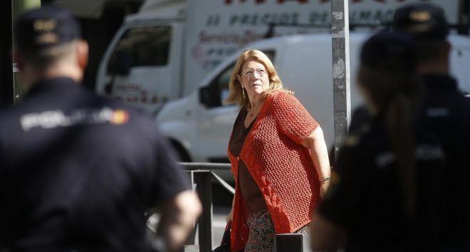 La presidenta de la CNMV, Elvira Rodríguez, a su llegada, el 29 de...