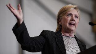 La candidata demócrata a la presidencia de los Estados Unidos,...