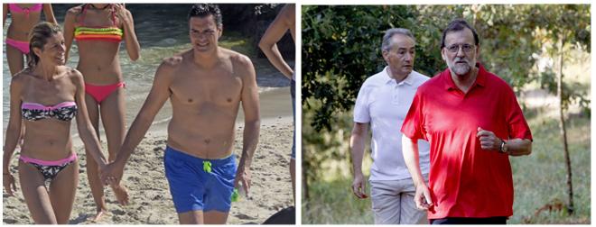 Los líderes políticos durante este fin de semana: Pedro Sánchez en...