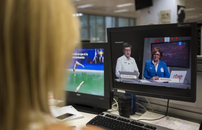 Retransmisión de dos emisiones de los Juegos de Río, una en...