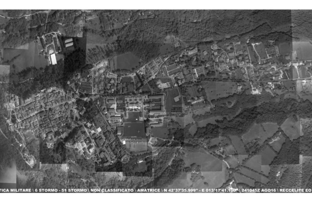 La fuerza área italiana ha facilitado una imagen global del terremoto...