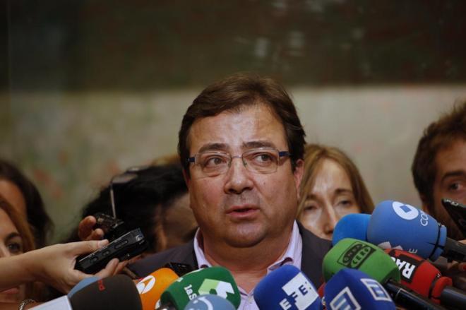 Guillermo Fernández Vara, en la sede del PSOE de Ferraz el pasado...
