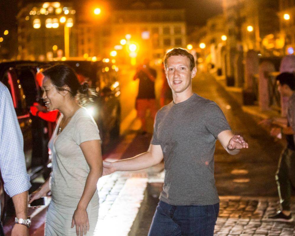 Tras asistir a la boda del CEO de Spotify, Mark Zuckerberg y su...