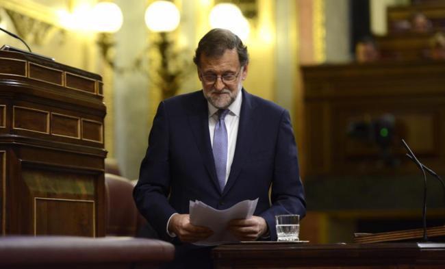 Mariano Rajoy, en la segunda jornada del debate de investidura.