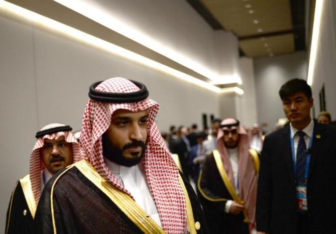 Saudi Arabia's Deputy Crown Prince and Minister of Defense Muhammad...