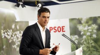 Pedro Sánchez, el lunes, tras la reunión de la Ejecutiva del PSOE.