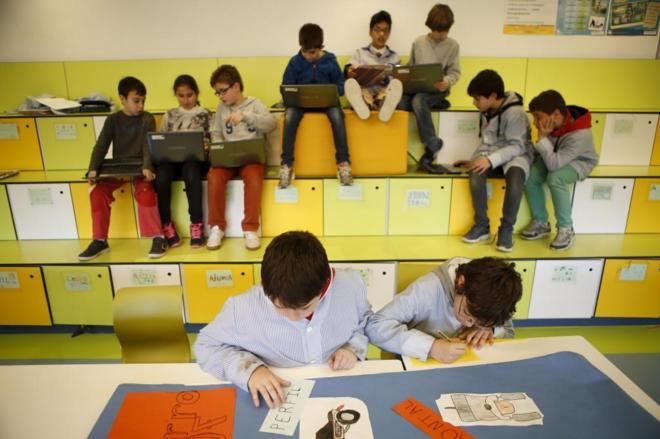 Image result for imagen aula abierta niños aprendiendo aula abierta