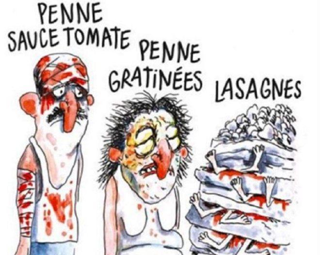 La polémica viñeta de 'Charlie Hebdo' sobre el terremoto de Italia.