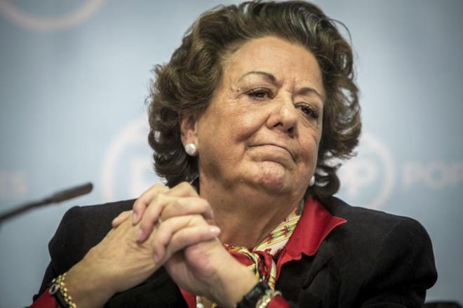 La ex alcaldesa de Valencia y senadora del PP, Rita Barbera.