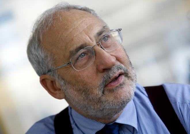 Economist and Nobel laureate Joseph Stiglitz during an interview with...