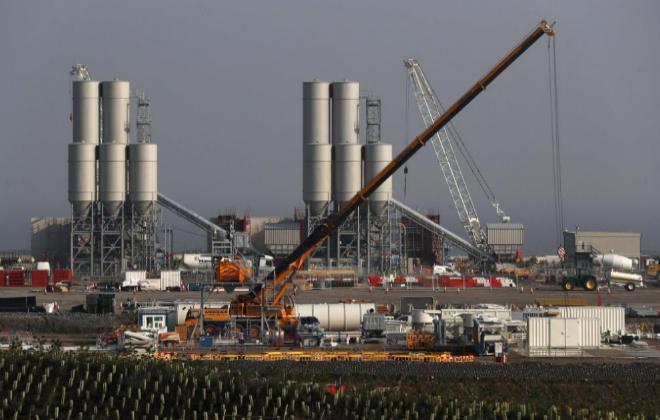 Lugar donde quedará emplazada la futura central nuclear de Hinkley...