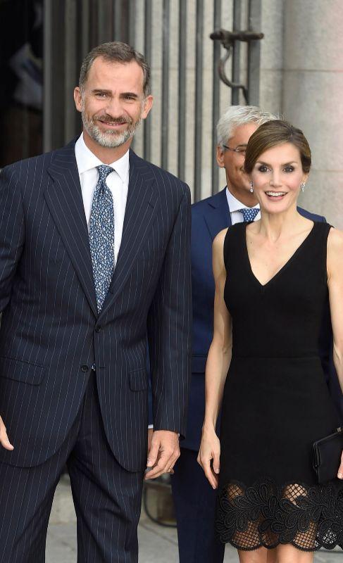 Los Reyes, a su llegada a la inauguración de la temporada de ópera...