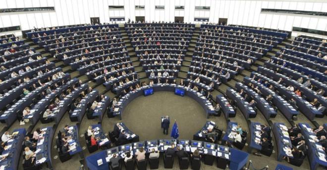 Pleno del Parlamento Europeo en su sede de Estrasburgo.