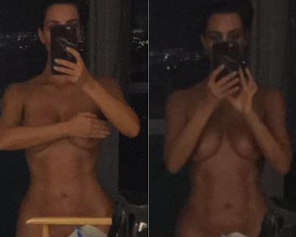 Kim Kardashian ha sembrado la polémica en las redes sociales al posar...