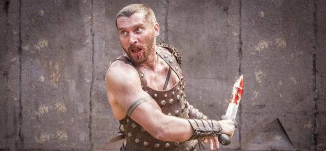 El actor Ben Batt da vida a Espartaco.