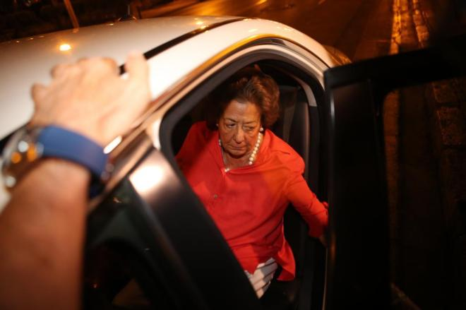 Rita Barberá, el pasado miércoles, tras anunciar que abandona el PP...