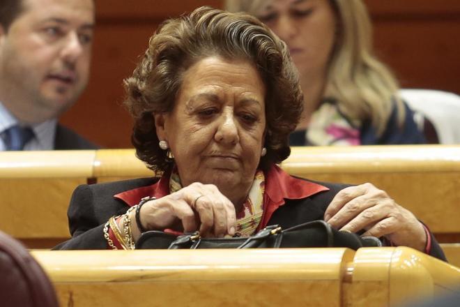 Rita Barberá, en un pleno del Senado el pasado mes de marzo.