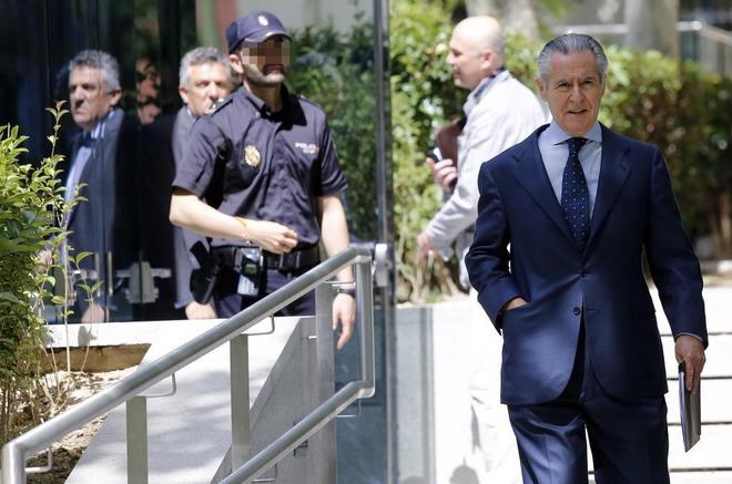 El ex presidente de Caja Madrid Miguel Blesa, a la salida de la...