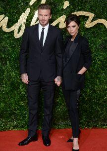David y Victoria Beckham. Tenemos todas nuestras esperanzas puestas en...