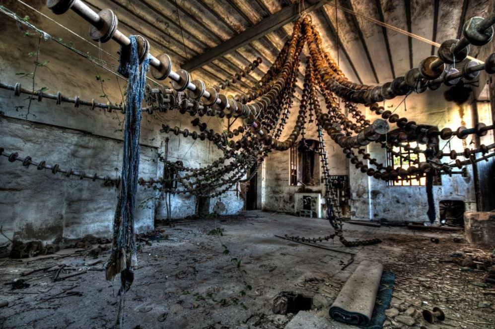 Antigua fábrica textil, en el pueblo de Sóller.