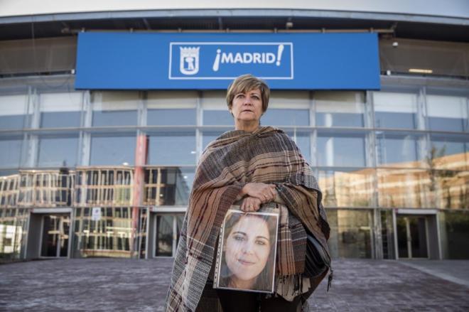 Isabel de la Fuente en madre de Cristina Arce, una de las fallecidas en el Madrid Arena. OLMO CALVO