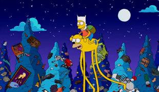 Homenaje de 'Los Simpsons' a 'Hora de aventuras'.