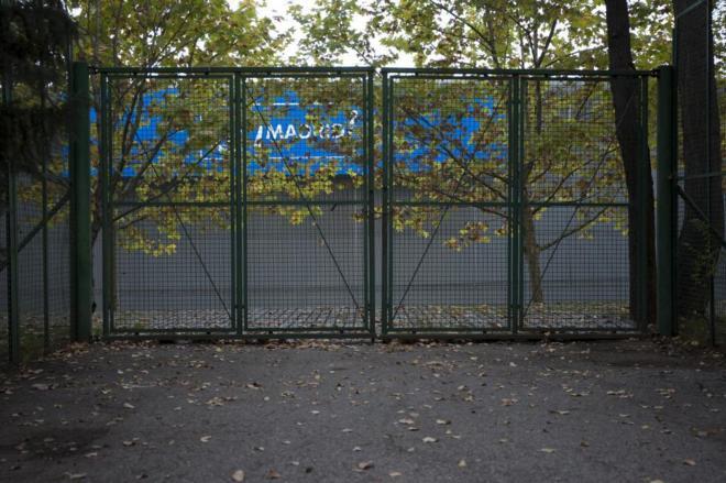 Acceso al recinto municipal Madrid Arena, donde se produjo la tragedia en 2012.
