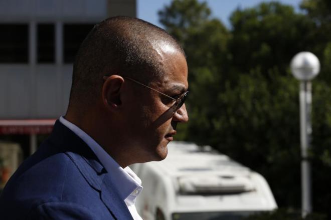 Miguel Amgel Flores, a la salida de los juzgados de la Audiencia provincial de Madrid.